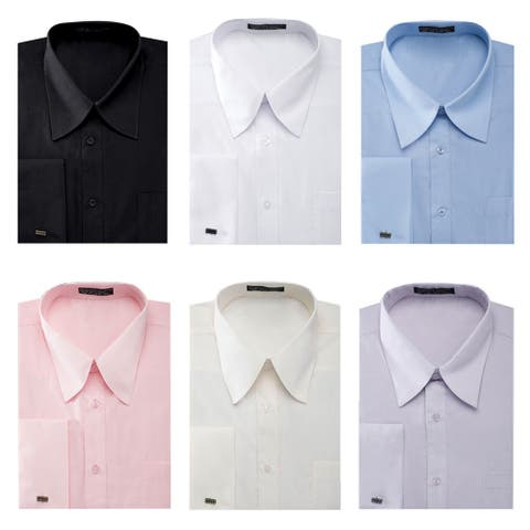 Men's French Cuff Pat Riley Collar Dress Shirt