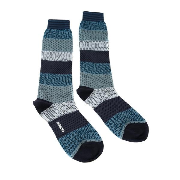 Missoni GM00COU5695 0002 Teal/Gray Calf Length Socks