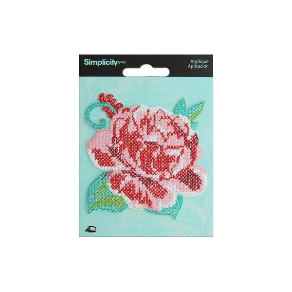Simplicity Applique Iron On Cross Stitch Rose