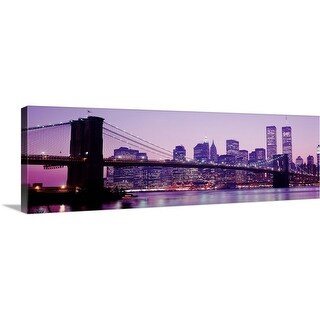 """Manhattan & Brooklyn Bridge New York NY"" Canvas Wall Art"