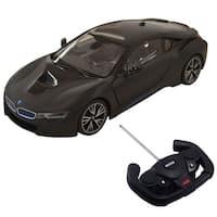 Costway 1:14 BMW I8 Licensed Radio RC Car Remote Control w/Opening Vertical Door Black