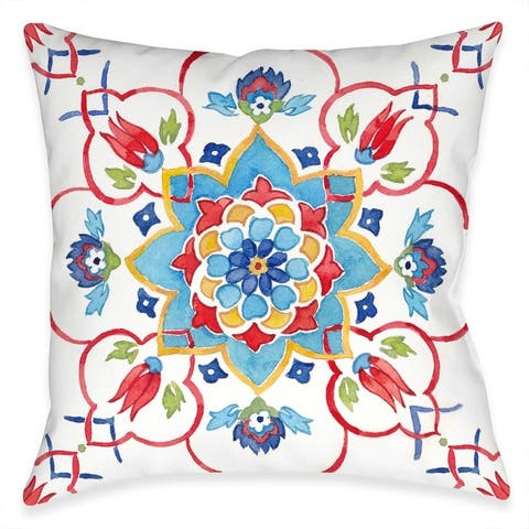 Mediterranean Medallion Garden Outdoor Pillow