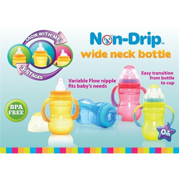 Nuby 3 Stage 11-oz Bottle