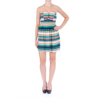 Be Bop Womens Juniors Striped Strapless Casual Dress