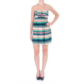 Be Bop Womens Juniors Casual Dress Striped Strapless