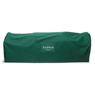 """Kittywalk Outdoor Protective Cover for Kittywalk Deck and Patio Green 72"""" x 18"""" x 24"""""""