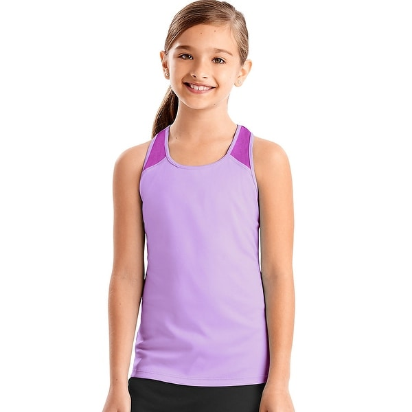 Shop Hanes Sport Girls Performance Tank Color Lavender Sparkle