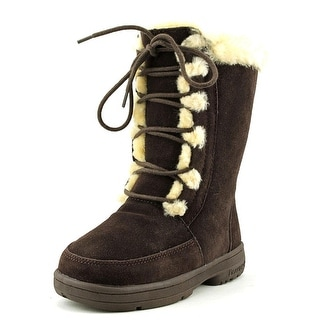 Bearpaw Macey Youth Round Toe Suede Brown Winter Boot