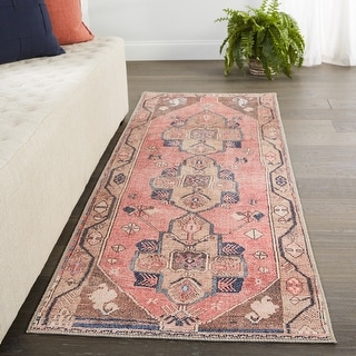 Link to Vibe by Jaipur Living Lani Medallion Pink/ Blue Area Rug Similar Items in Rugs