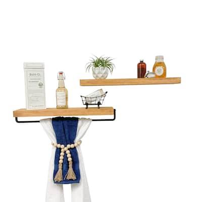 Del Hutson Designs True Floating Shelf and Towel Rack Set