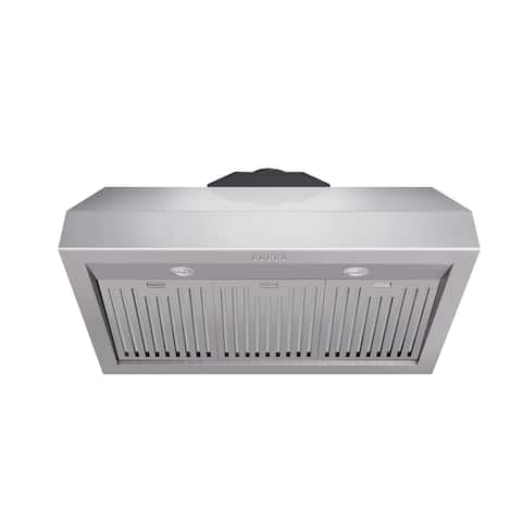 36 Inch Professional Wall Mounted Range Hood, 16.5 Inches Tall