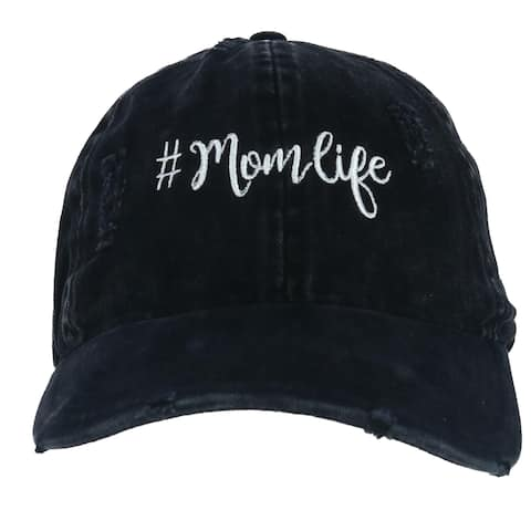 David & Young Women's Distressed Mom Life Embroidered Baseball Cap