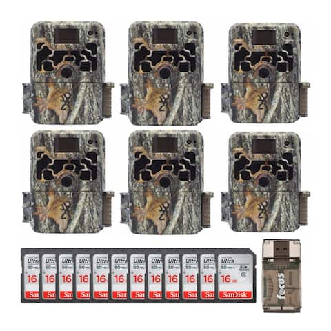 Browning Trail Cameras Dark Ops Extreme (6-Pack) w/ 16GB Cards Bundle - Camouflage