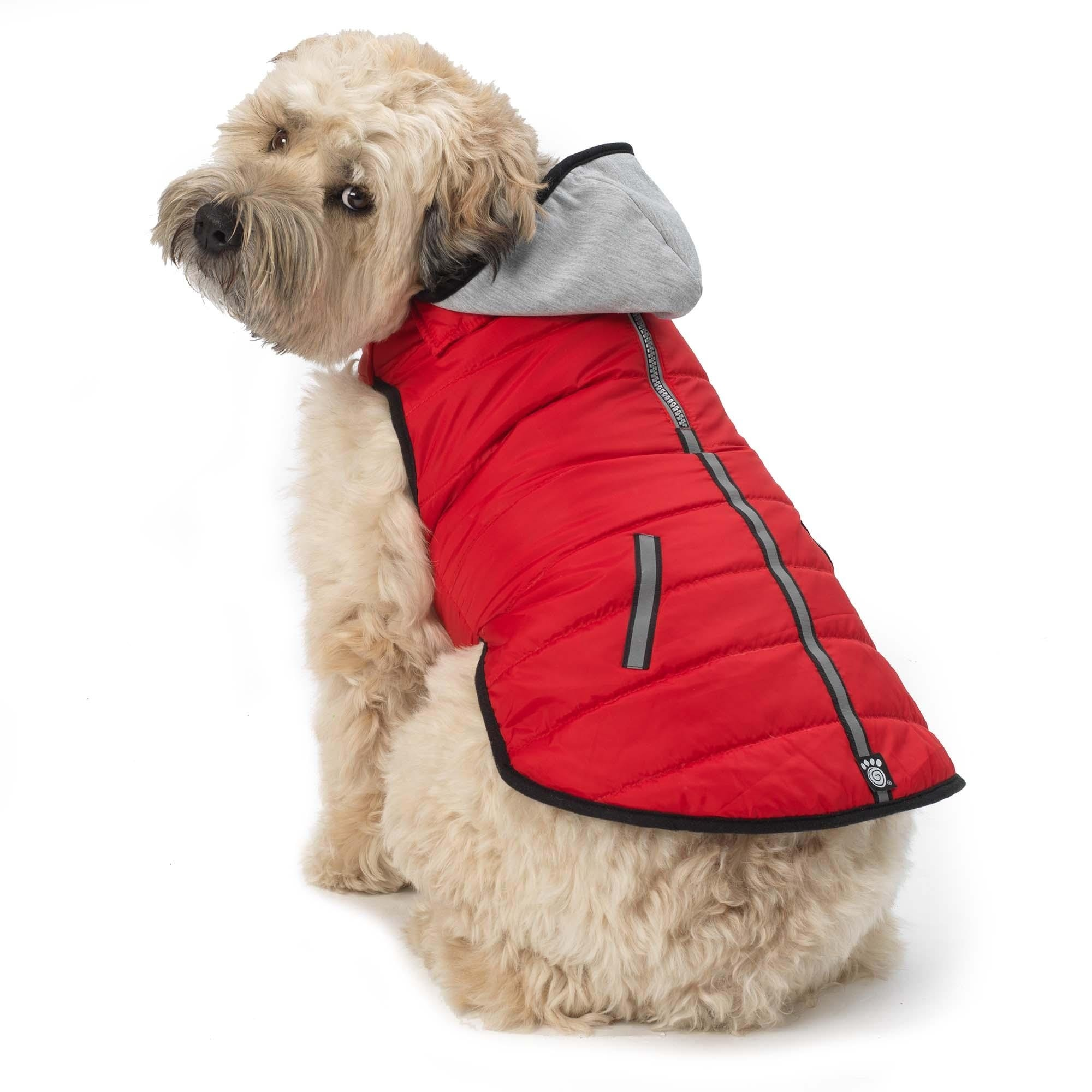 Stowe Puffer Dog Coat - Red (Red - X-Large)