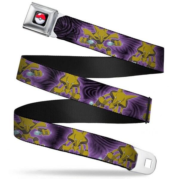 Pok Ball Full Color Black Pokmon Alakazam 3 Poses Swirls Black Purples Seatbelt Belt