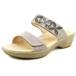 Naot Port Open Toe Leather Slides Sandal