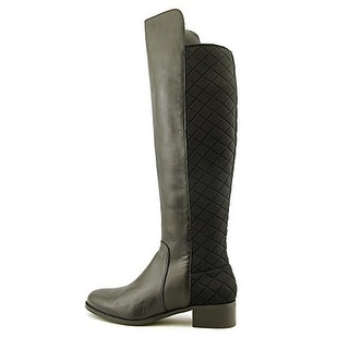 Charles By Charles David Julia Women Round Toe Leather Black Knee High Boot