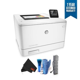 HP Color LaserJet Pro M452dw Wireless Color Laser Printer (CF394A) with 1 Year Extended Warranty + Surge Protector