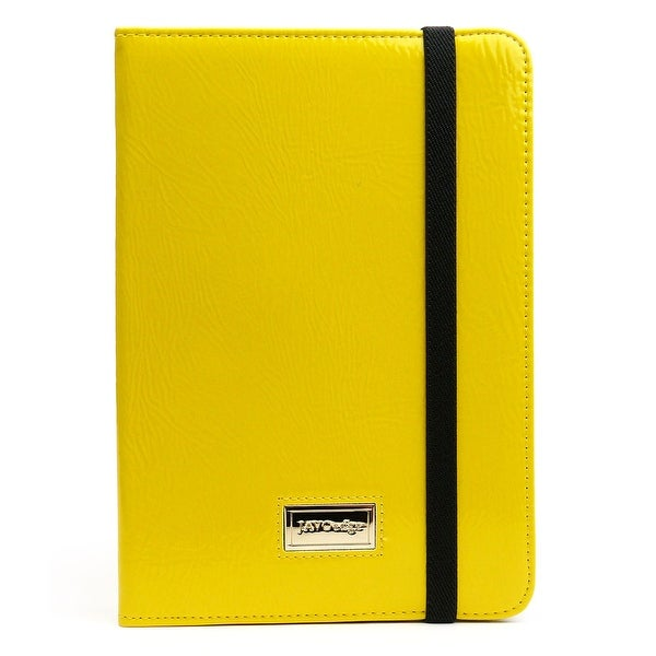JAVOedge Bold Leopard Folio Case for the Apple iPad Mini (Yellow)