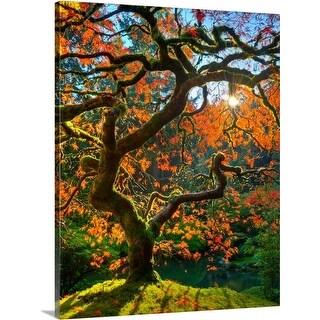 Premium Thick-Wrap Canvas entitled Japanese maple