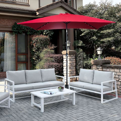10'x 6.5'Deluxe Patio Market Umbrella With LED