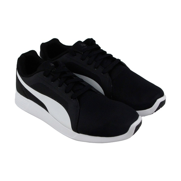 Puma St Trainer Evo Mens Black Textile Athletic Lace Up Training Shoes