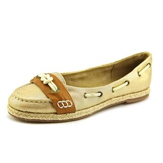 Bella Vita Buoy II Women W Round Toe Canvas Gold Flats