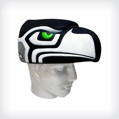 NFL Team Mascot Foamhead Hat: Seattle Seahawks - Black