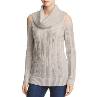 Design History Womens Pullover Sweater Cable Knit Cowl Neck (4 options available)