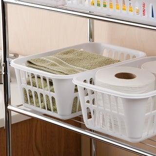 "Sterilite Storage Basket-11.25""X8""X4.25"" White"