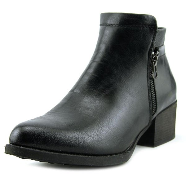 Patrizia By Spring Step Avery Women Round Toe Synthetic Black Bootie