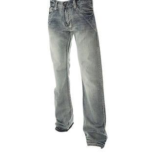 B. Tuff Western Denim Jeans Mens Kirk Distressed Light Wash MJKRKD