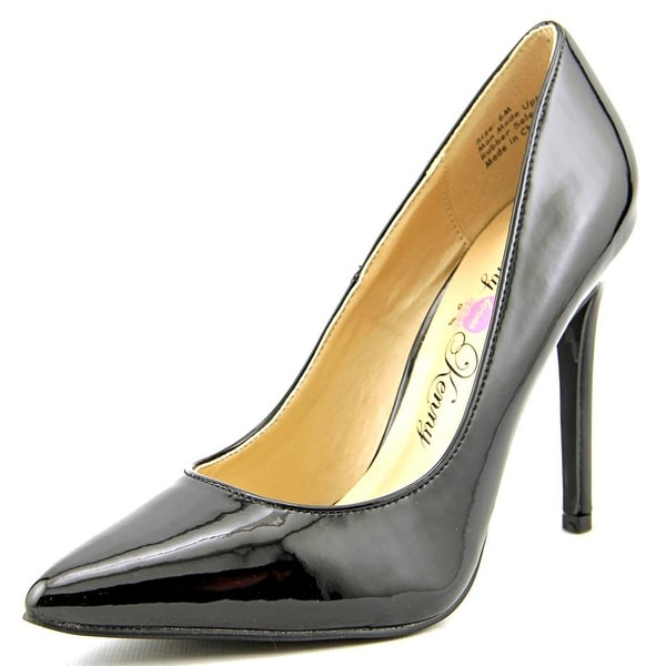 Penny Loves Kenny Opus Women Pointed Toe Synthetic Black Heels