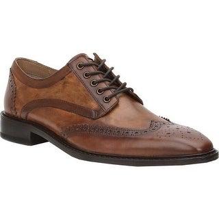 Giorgio Brutini Men's Grayson Wingtip Oxford Brown/Tan Arthur Leather
