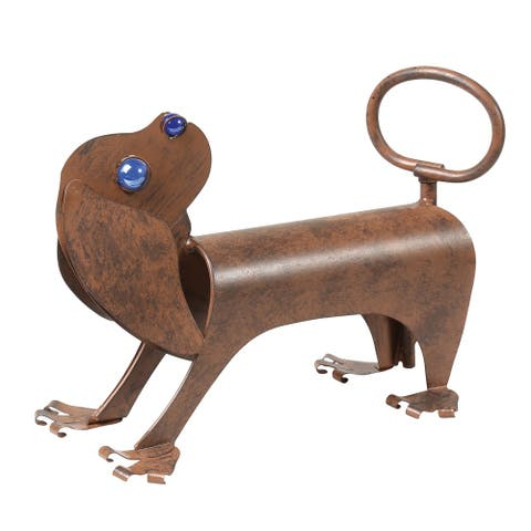 What On Earth Spinning Tail Dog Sprinkler - Iron Animal Sculpture Lawn and Garden Watering Yard Art
