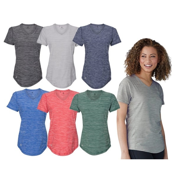 Adidas Women's Athletic Tech Tee Shirt, Assorted Colors