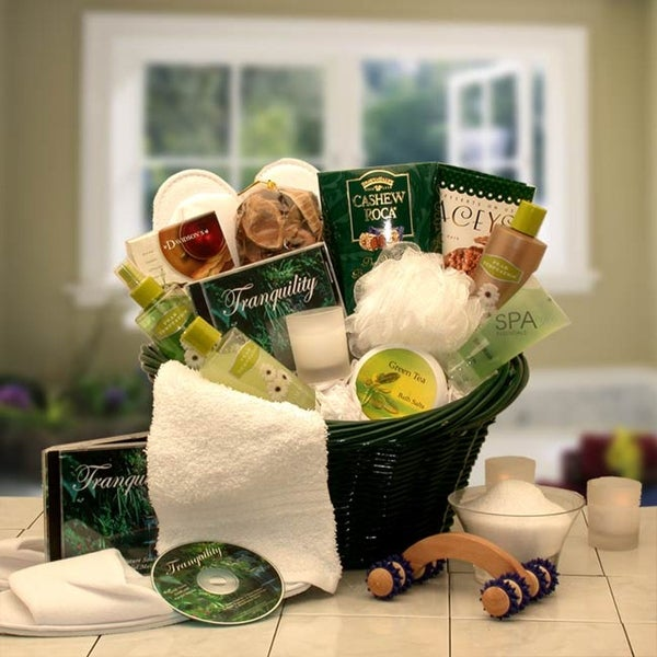 Spa Luxuries Gift Basket. Opens flyout.