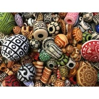 School Specialty Acrylic Old World Beads, 1 Pound, Assorted Colors