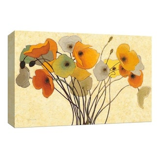 "PTM Images 9-153564  PTM Canvas Collection 8"" x 10"" - ""Pumpkin Poppies I"" Giclee Flowers Art Print on Canvas"