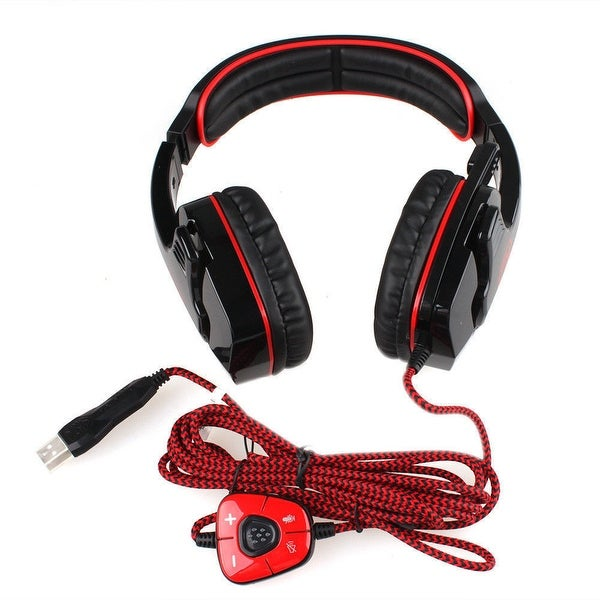 Stereo 7.1 Surround LOL Headset SA-901 USB Headband PC Pro Gamers 2 Color