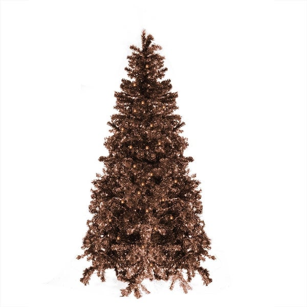 4' Pre-Lit Sparkling Chocolate Mocha Brown Artificial Christmas Tree - Clear Lights