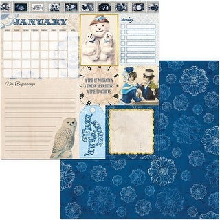 """Banner Year Double-Sided Cardstock 12""""X12""""-January"""