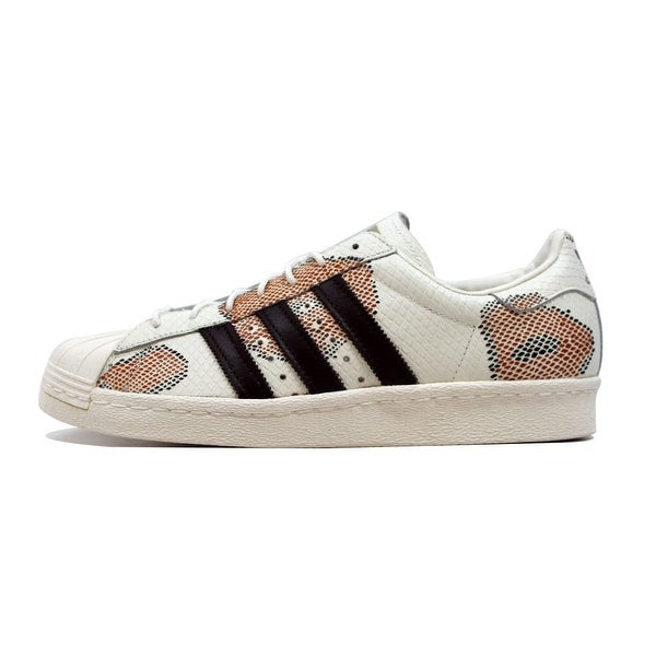 Adidas Men's Superstar 80s Off White/Red Albino Pack B35381