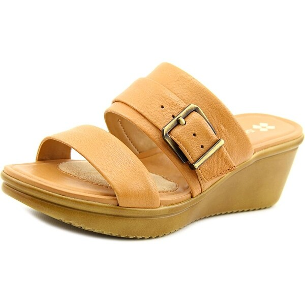 7f1bcf7a0a22 Shop Naturalizer Aileen Women Open Toe Leather Nude Wedge Sandal ...