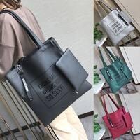 2PC Women Crossbody Bag Shoulder Bag Handbag Messenger Bag Phone Coin Bag