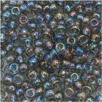 Toho Round Seed Beads 8/0 176 'Transparent Rainbow Black Diamond' 8 Gram Tube