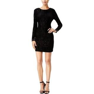 Guess Womens Cocktail Dress Geo-Pattern Velvet