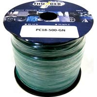 18 Gauge Green Colored Stranded Primary Connection Wire 500 Feet