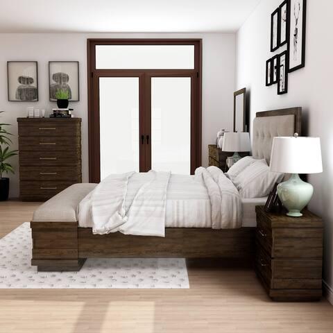 Furniture of America Syra Transitional Walnut 6-piece Bedroom Set