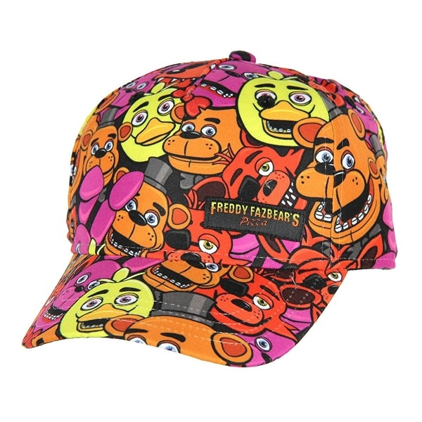 Five Nights at Freddy's Youth Freddy All-Over Print Snapback Hat - multi